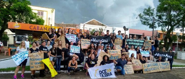 Caminhada contra demissão de professores e funcionários da Ulbra