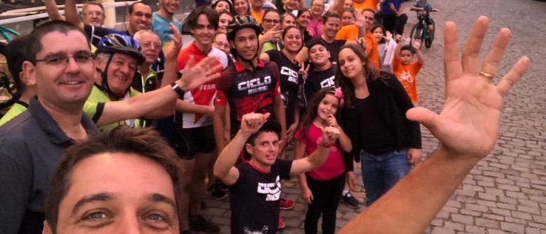 Ciclistas cachoeirenses marcam presença no 1° Pedal em Cerro Branco.