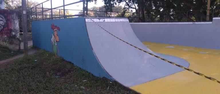 Pista de skate ganha nova pintura