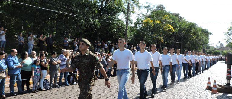 400 jovens são recebidos no Batalhão para o efetivo de 2020
