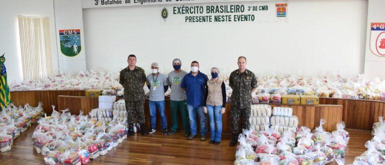 Campanha do 3º Batalhão arrecada 6,3 toneladas de alimentos