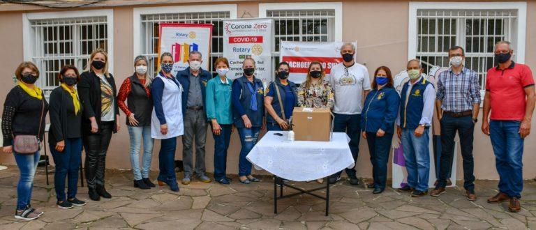 Projeto Corona Zero do Rotary chega ao Asilo Nossa Senhora Medianeira