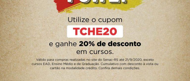 20 de setembro: Senac oferece desconto de 20% em homenagem ao Gaúcho
