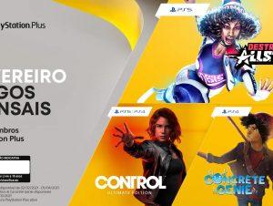 Jogos de fevereiro para membros PlayStation Plus: Destruction AllStars, Control: Ultimate Edition e Concrete Genie
