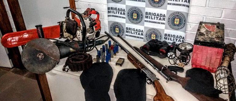 BM apreende armas de fogo às margens do Rio Jacuí