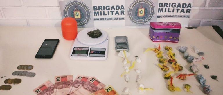 Marina: BM prende jovem por tráfico de drogas
