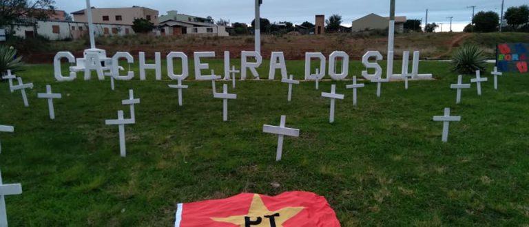 PT de Cachoeira promove ato em dia de protesto contra Bolsonaro