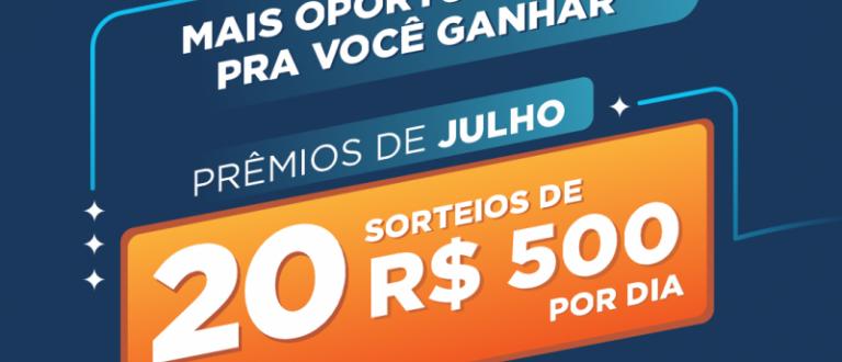 Receita da Sorte terá 20 prêmios diários de R$ 500 em julho