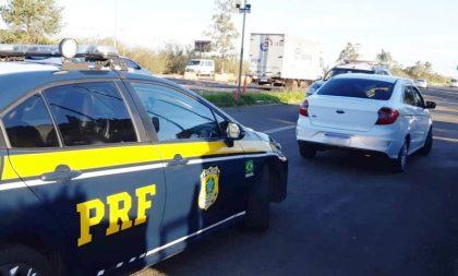 BR-290: PRF apreende drogas escondidas por baixo das roupas de motorista