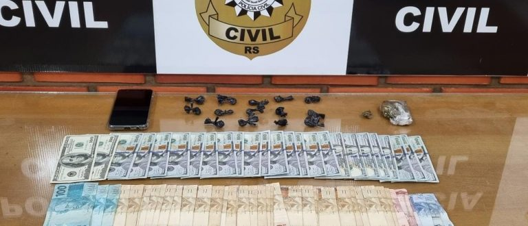 Bairro Tibiriçá: Polícia detém dupla com drogas e dinheiro