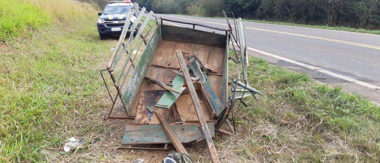 Acidente com caminhão, moto e carroça na Charqueada deixa adolescente em estado grave
