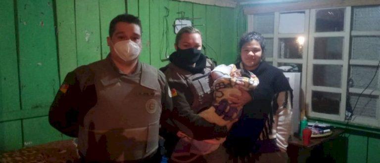 Policiais militares salvam bebê engasgado em Paraíso do Sul