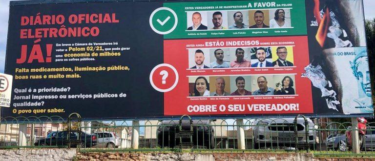 Campanha pelo Diário Oficial Eletrônico Já ganha as ruas