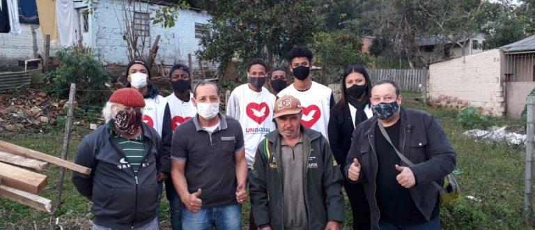 Morador do Bairro Santo Antônio que perdeu casa em incêndio é socorrido pela Prefeitura