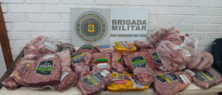 Prisão em Cachoeira do Sul: Polícia apreende carnes furtadas de supermercados