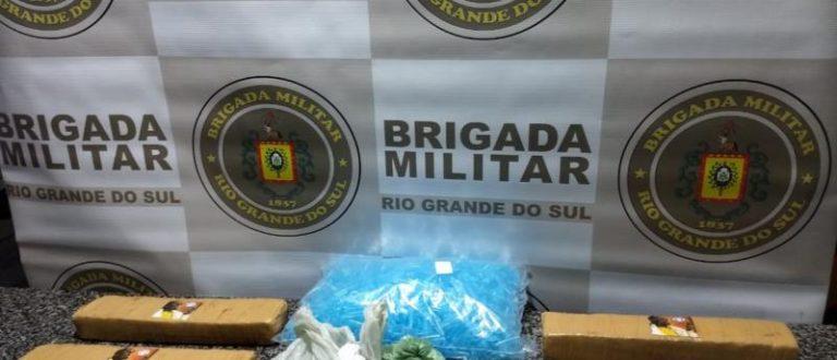 Polícia Rodoviária de Cachoeira do Sul apreende drogas na RSC-287
