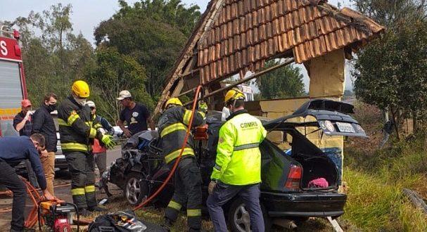 Acidente deixa quatro feridos na RSC-287