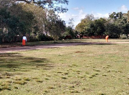 Apenados de Cachoeira do Sul realizam limpeza e manutenção de espaços públicos