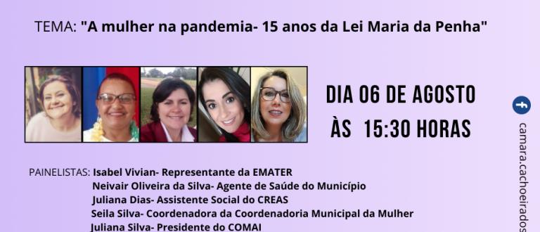 AO VIVO: live da Câmara debate violência contra mulher na pandemia