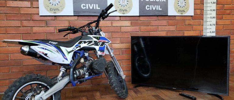 Golpe do falso depósito: Polícia recupera moto e TV no Carvalho