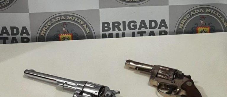 BM apreende duas armas de fogo no Universitário