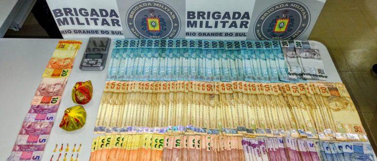Tráfico no Tibiriçá: homem é preso por tráfico com R$ 10,1 mil