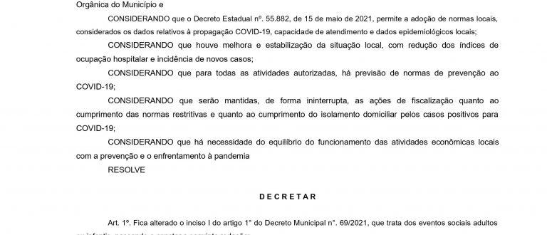 Pandemia em Cachoeira: decreto traz mudança nas regras dos domingos