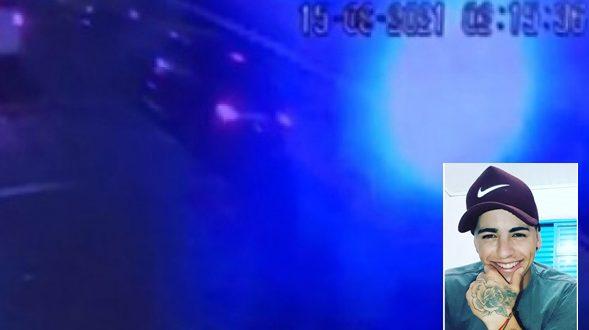 Câmera revela que moto envolvida em colisão com morte foi atingida por carro preto