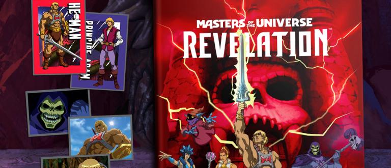 """""""Masters of the Universe: Revelation"""" do He-Man ganha álbum de figurinhas"""
