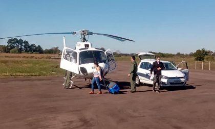 Helicóptero da BM garantiu transporte de órgãos captados no HCB