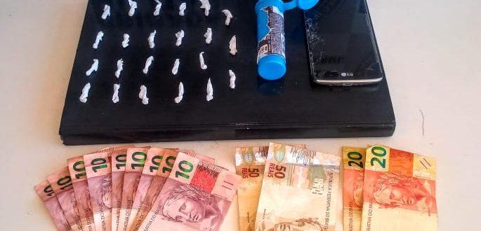 Brigada prende mulher por tráfico de drogas