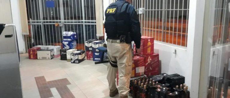 PRF localiza 310 litros de bebidas na BR-290