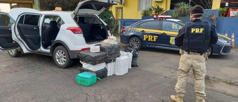 BR-290: PRF apreende 422 quilos de cocaína
