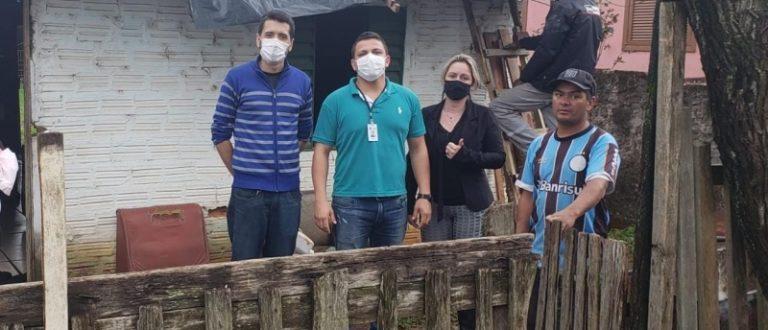 Secretaria da Inclusão Social avalia situação de famílias, após danos provocados por chuvas