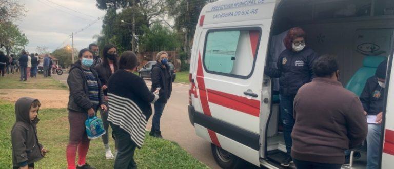 Chuva transfere roteiro da itinerante da vacina nos bairros