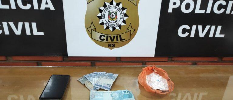 Polícia apreende cocaína avaliada em R$ 10 mil