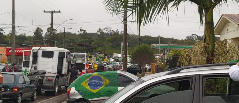 Cachoeira: mobilização em verde e amarelo integra ato pró-Bolsonaro