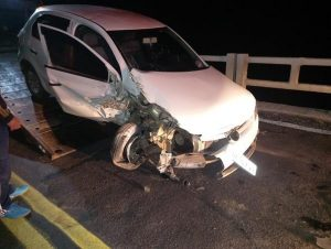 Condutor de Novo Cabrais fica ferido em acidente na 287