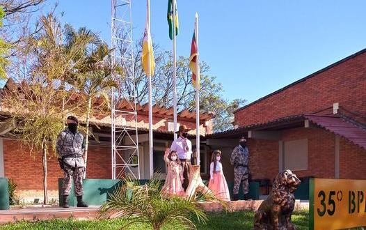 BM de Cachoeira do Sul recebe centelha da chama crioula