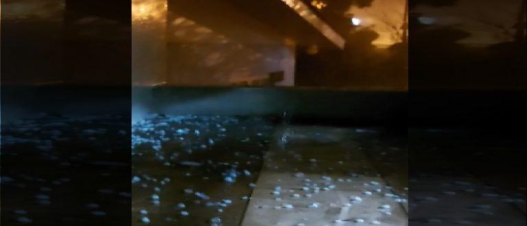 Trovões, raios, chuva e granizo fecham feriado em Cachoeira do Sul