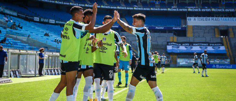 Com gols de Diego Souza e Ferreira, Grêmio bate o Ceará e vence no Brasileiro
