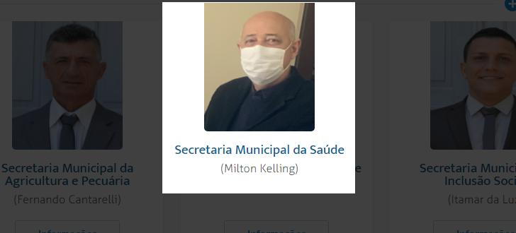 """Após reportagem do OC, Milton é """"oficializado"""" no site da Pefeitura"""