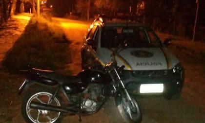 BM de Cachoeira recupera motocicleta furtada