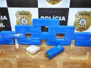 Ações contra tráfico: Polícia apreende mais de 11 quilos de droga