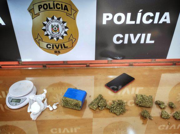 Polícia prende homem por tráfico de drogas no Oliveira