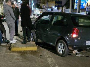 Acidente no centro deixa motorista com ferimentos